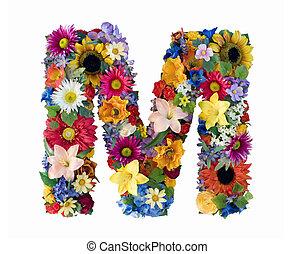 alfabeto, flor, -, m