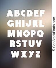 alfabeto, fuente, tipo, negrita