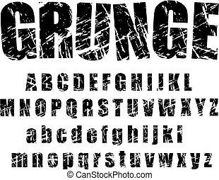 Alfabeto grunge - 1