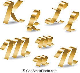 alfabeto, klmn, cinta