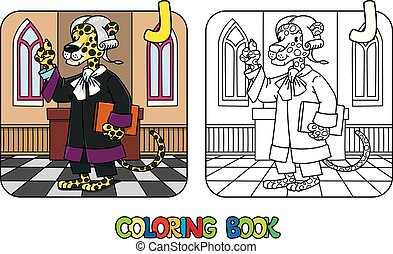 alfabeto, libro, j, jaguar, abc, colorido, juez