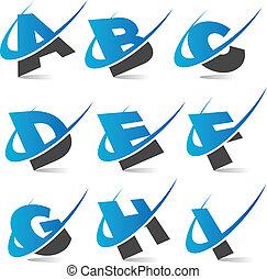 alfabeto, set1, swoosh