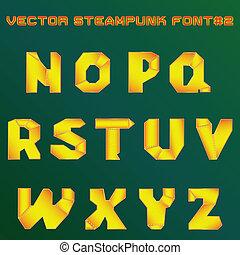 Alfabeto Steampunk para el diseño