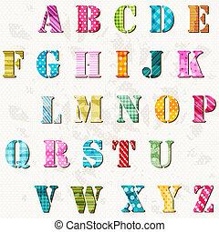 Alfabeto texturado