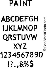 alfabeto vector con números de fondo blanco