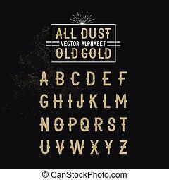 alfabeto, vector, moderno, negrita