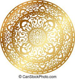 alfombra oriental de oro / servilleta