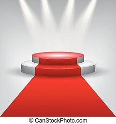 Alfombra roja al podio