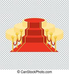 Alfombra roja y transparente