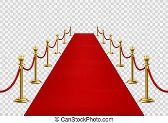 alfombra, vector, barreras, apertura, entrada, cine, magnífico, vip, mockup, celebridad, estado, estreno, ceremonial, terciopelo, acontecimiento, rojo, carpet., visit., o
