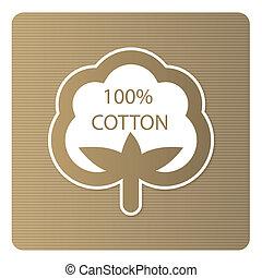 algodón, etiqueta