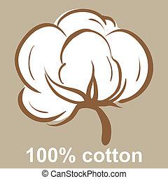 algodón, icono