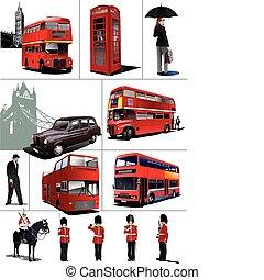 Algunas imágenes de Londres. Vector ilustrado