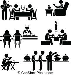alimento, café, bebida, restaurante