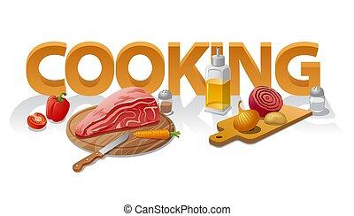 alimento, cocina
