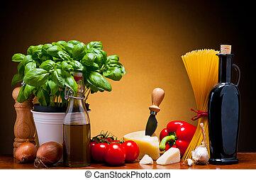 alimento, cocina, italiano