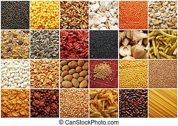 alimento, colección, ingredientes
