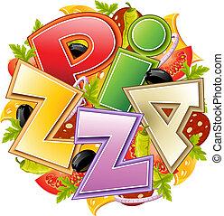 alimento, concepto, pizza