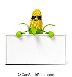 alimento, mazorca, carácter, maíz, -