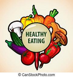 alimento, menú, plano de fondo, sano