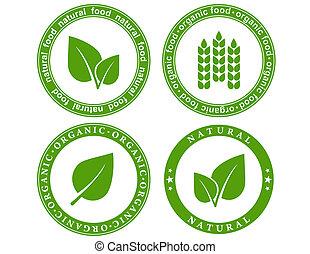 alimento, natural, sello