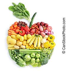 alimento sano, apple: