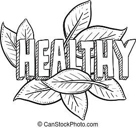 alimento sano, bosquejo