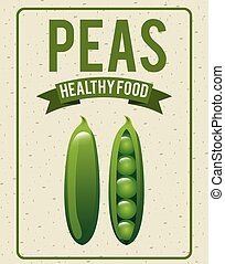 alimento, sano, orgánico, diseño