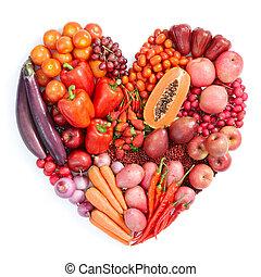 alimento sano, rojo