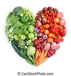 alimento sano, rojo verde