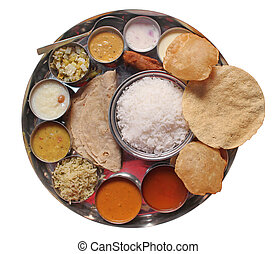 alimento, tradicional, indio, comidas, almuerzo