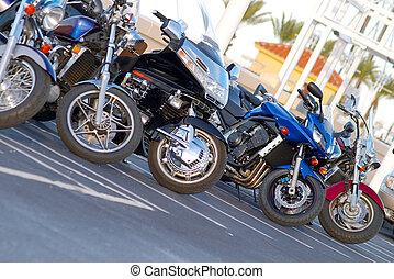 alineación, motocicleta