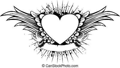 Alitas de corazones