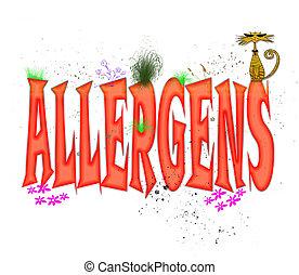 allergens, tipografía