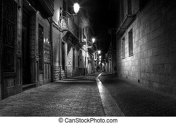 Alley por la noche