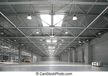 almacén, grande, centro comercial