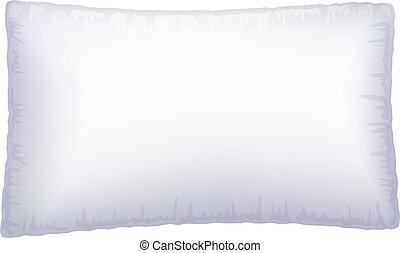 Almohada blanca.