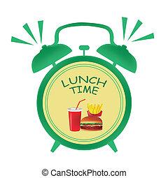 almuerce tiempo, reloj
