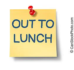 almuerzo, afuera
