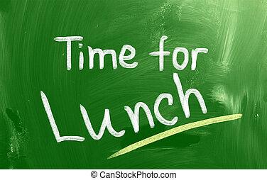 almuerzo, concepto, tiempo