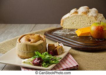 Almuerzo de pastel de cerdo de Melton Mowbray