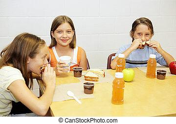 Almuerzo escolar en la cafetería