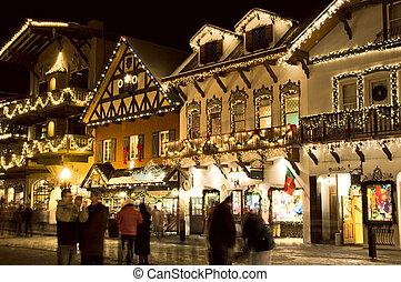 alpino, aldea del esquí