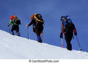 alpino, caminata