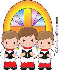 altar, niños