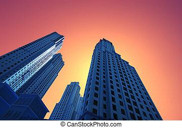 Altas rascacielos azules