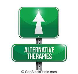 alternativa, diseño, terapias, ilustración