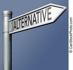 alternativa, muestra del camino