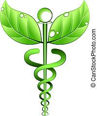 alternativa, vector, símbolo, medicina