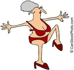 alto, caminar, abuelita